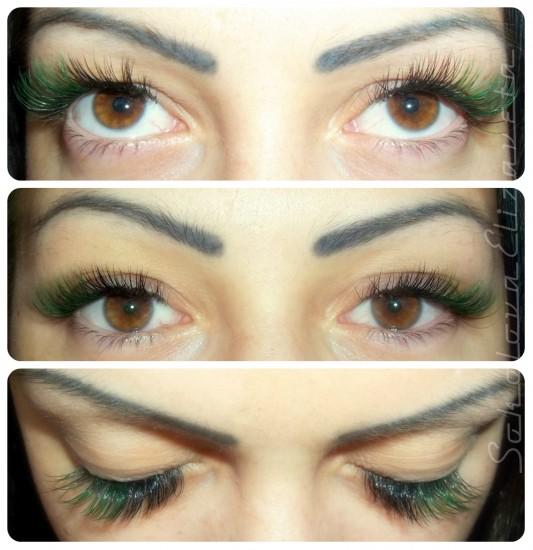 Декор зелеными ресницами