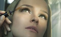 Варианты макияжа с цветной тушью